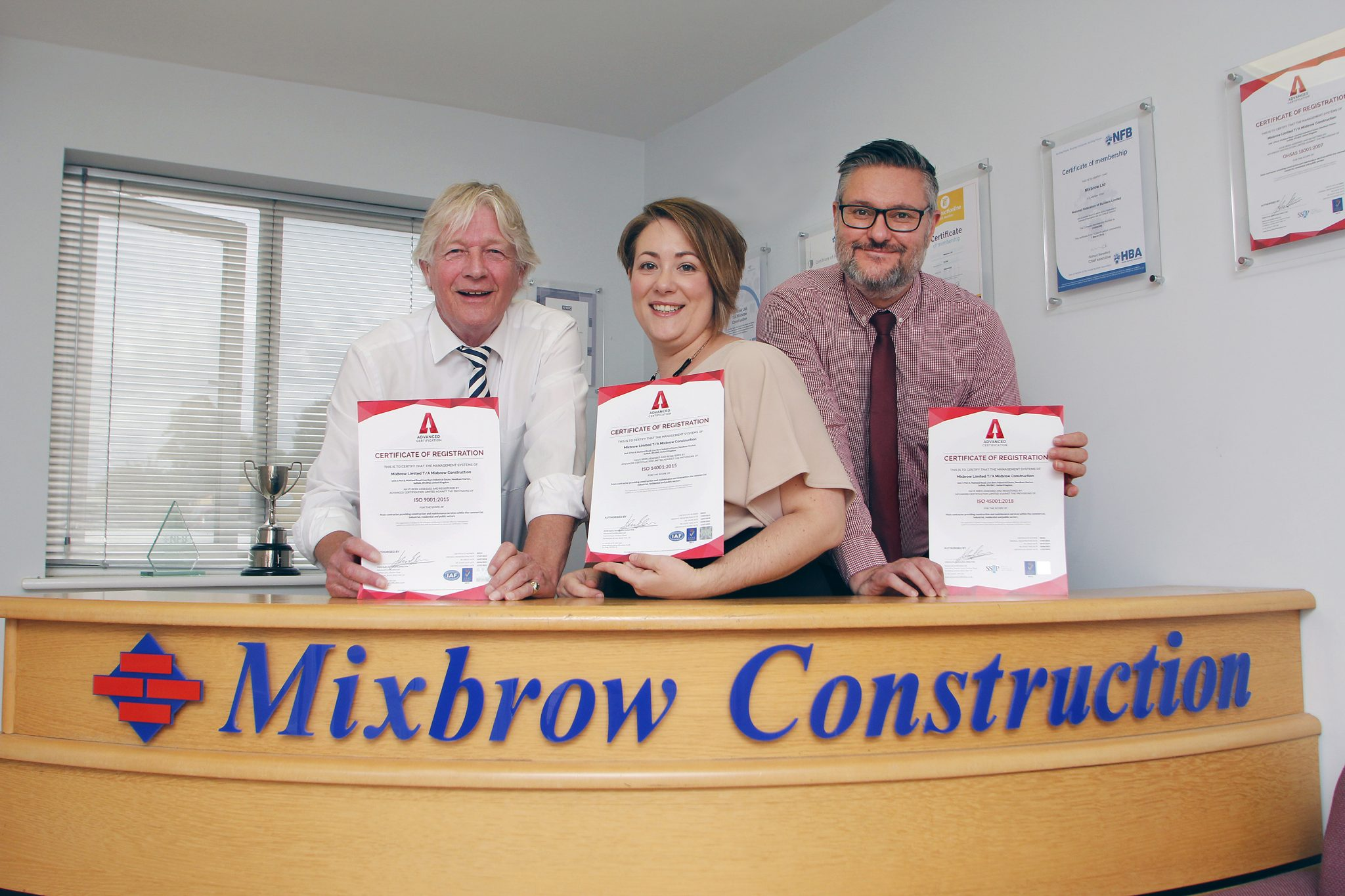 Local construction company achieves a first in ISO accreditation