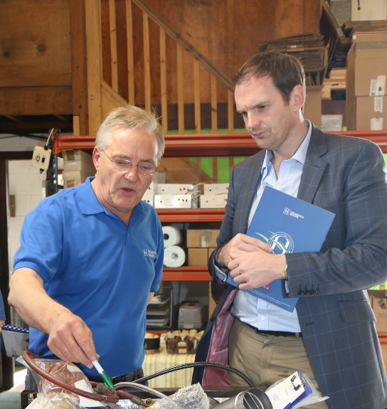 Dr Dan Poulter MP visits Hounsfield Boilers