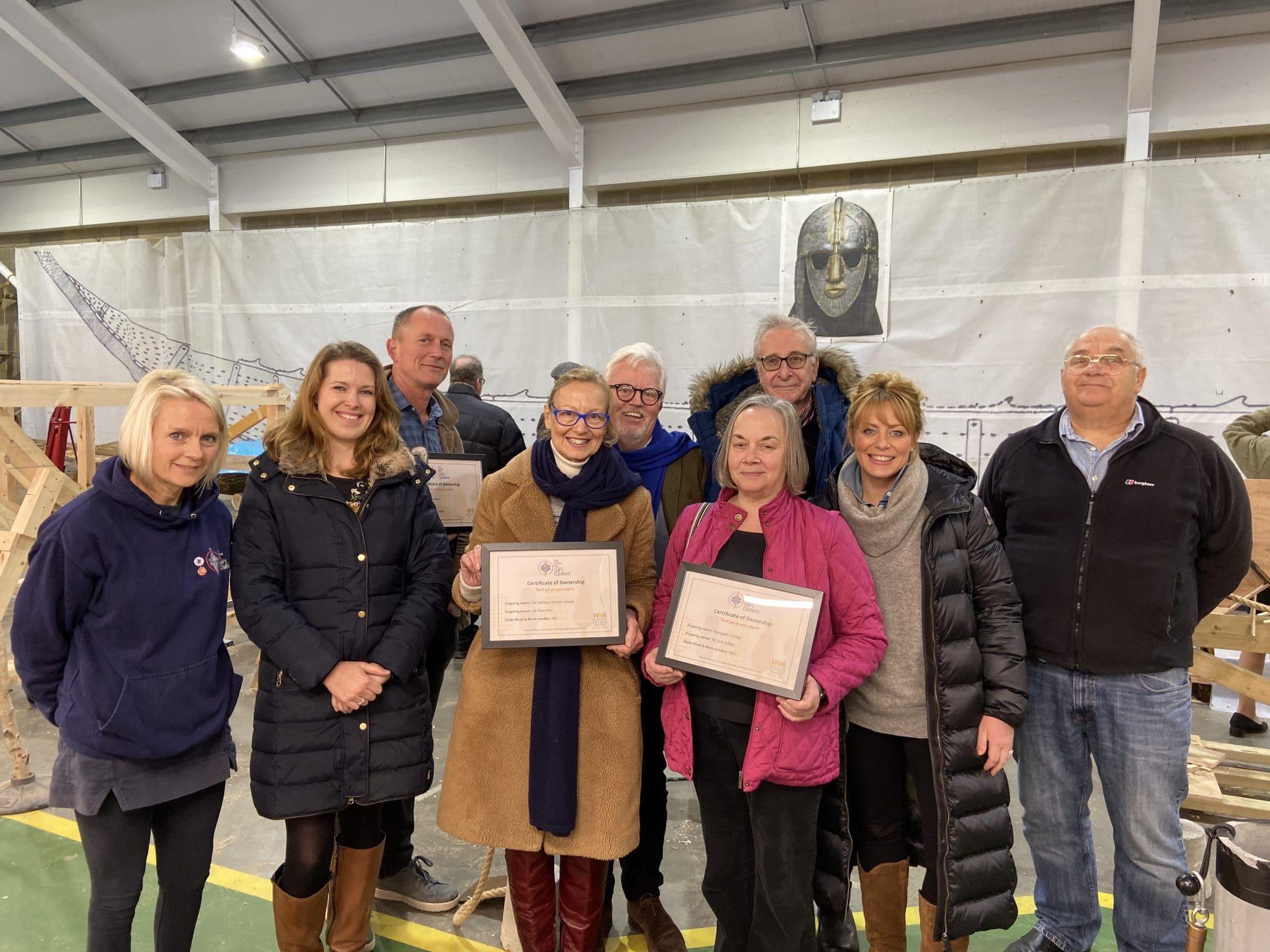 Woodbridge homeowners support Sutton Hoo ship rebuild