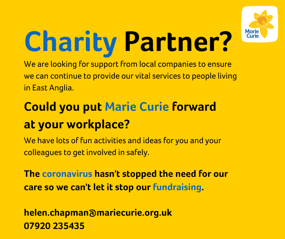 Can your Suffolk company support Marie Curie?